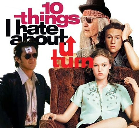 Episode 25: 10 Things I Hate About U Turn is available now at www.whospikedthepuns.com! You want listen to a better podcast today about Jon Voight's awful acting #uturn #10thingsihateaboutyou #heathledger #seanpenn #jlo #90s #podcast #movies