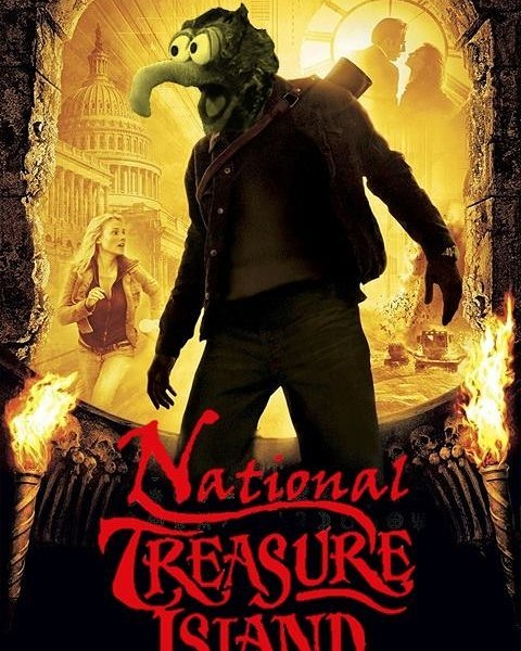 Cracking out the big guns for episode 50: National Treasure Island. My buddies from Netflix 'N Swill join in to get weird in all of the ways that a #nicolascage movie deserves #PodFix #muppets #podernfamily