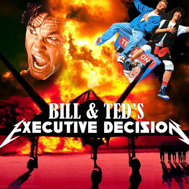 BiLL & Ted try to invade a passanger plane for various reasons? Count me in!  Tune in for the latest #whospikedthepuns episode with special guests @sandimasfilm #billandtedsexcellentadventure #executivedecision #keanureeves #kurtrussell #stevenseagal