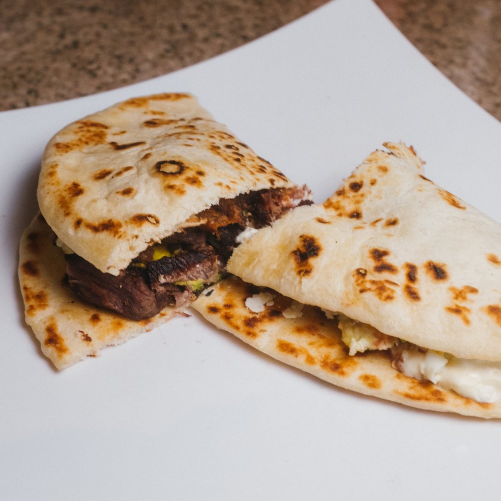 Baleadas with Meat