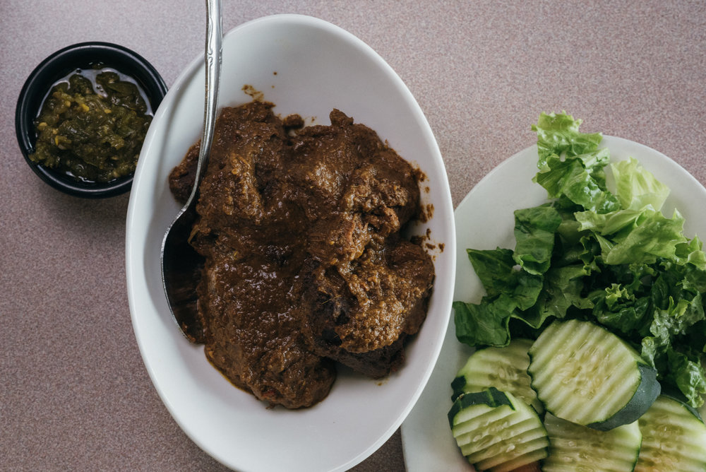 Rendang: what it lacks in looks, it makes up for in flavor.  Also voted the worlds best food.