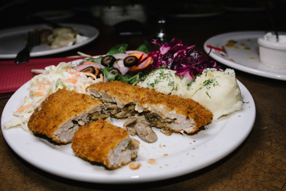 Stuffed pork cutlet