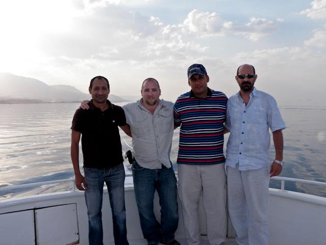Fishing with some friends on the Red Sea
