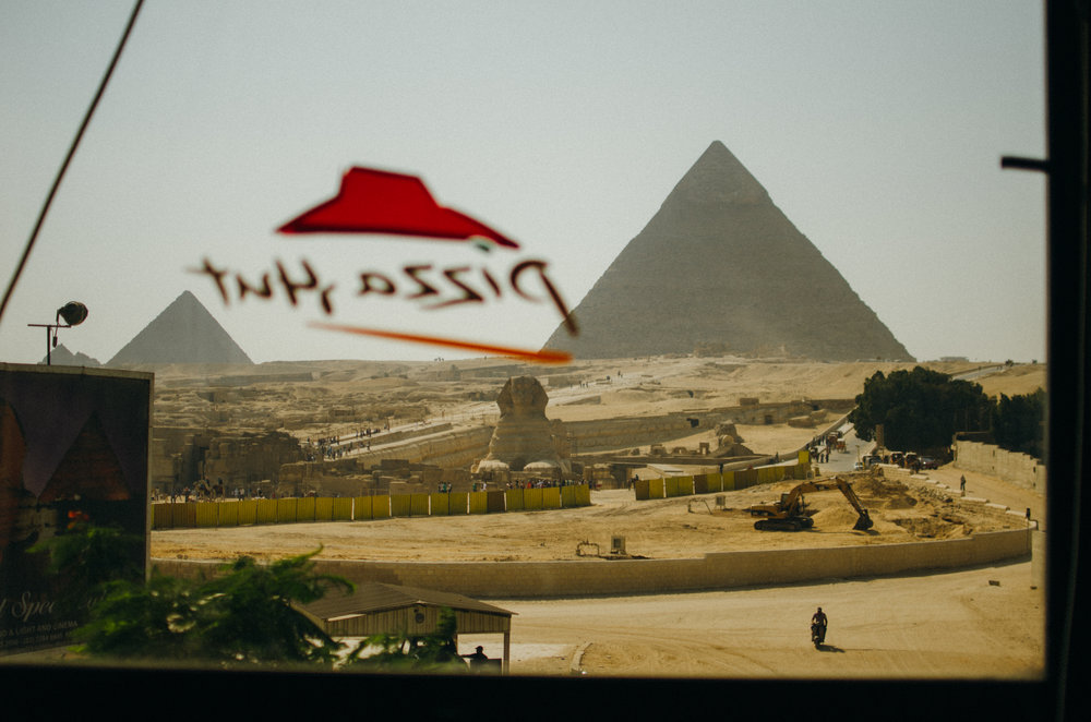Contrary to many pictures of the pyramids, they are just outside of the city limits