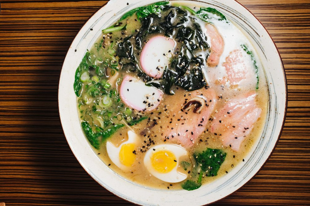 The artistry of Japanese cuisine is evident in this bowl of Ramen.