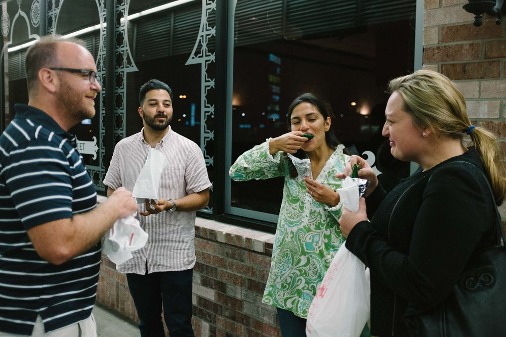 Some of our newest members on the food journey realize that Ramadan is a great opportunity to hang out late with friends and eat great food, as they sample Paan, a post meal digestive aid.  Aga's offers some fantastic regional Pakistani dishes.