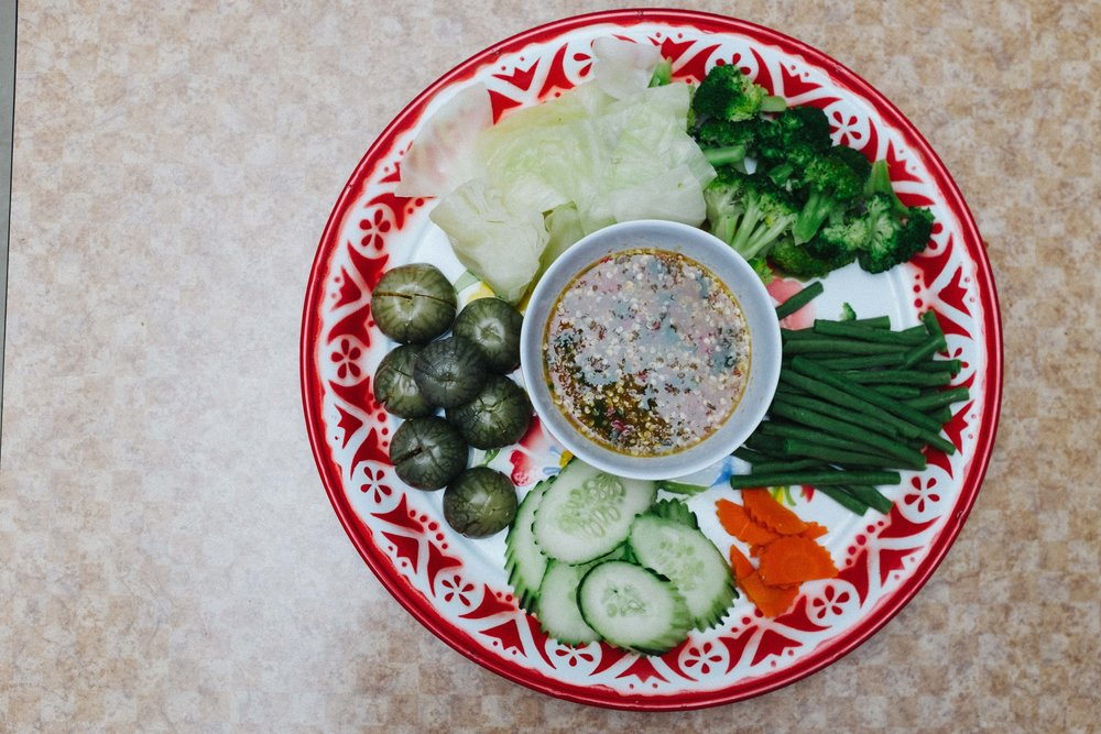 Steamed Veggies with Thai Eggplant