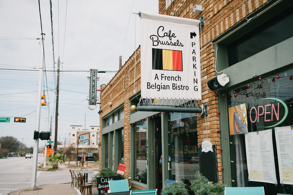 Cafe Brussels is not only the final outpost for Belgian food in Houston, it is an impromptu cultural embassy for many of the Europeans who live in Houston.