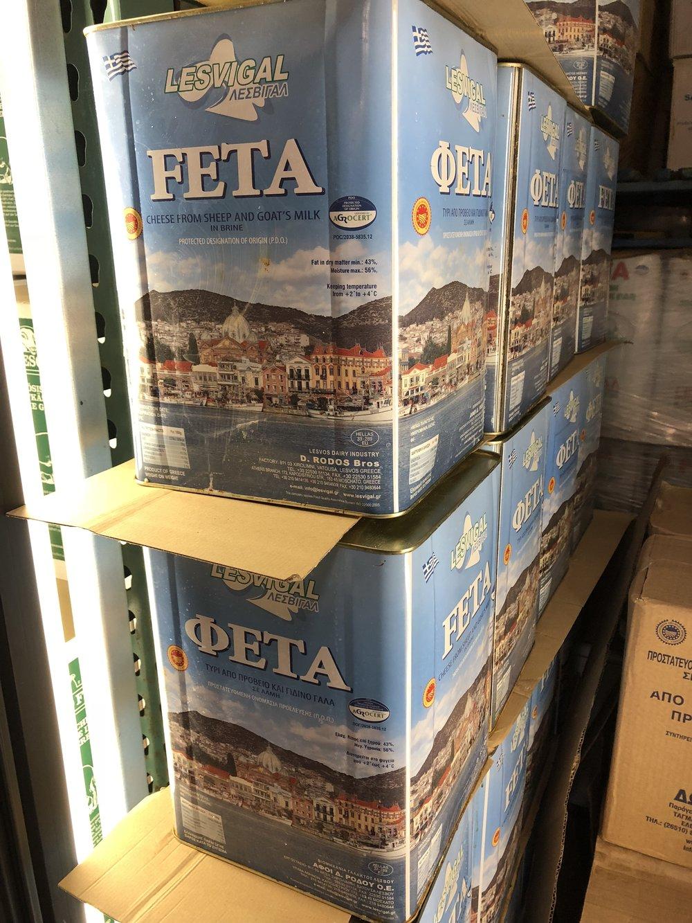 33 lb Cans of Feta