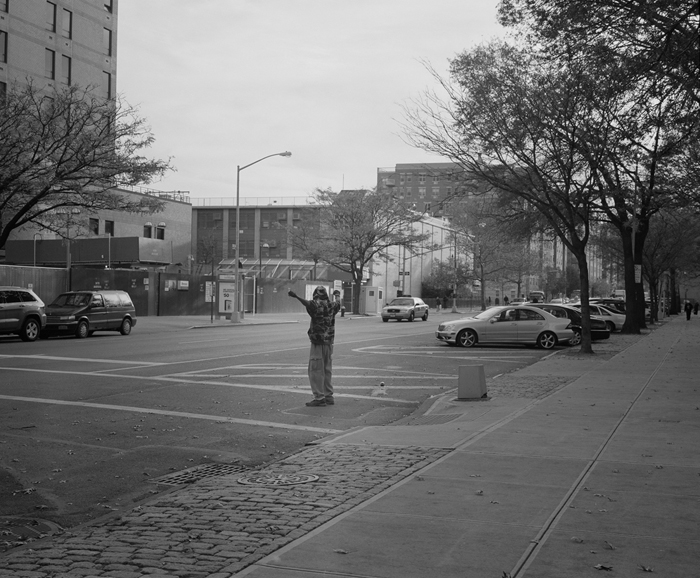 Untitled, Guy In Street of Harlem