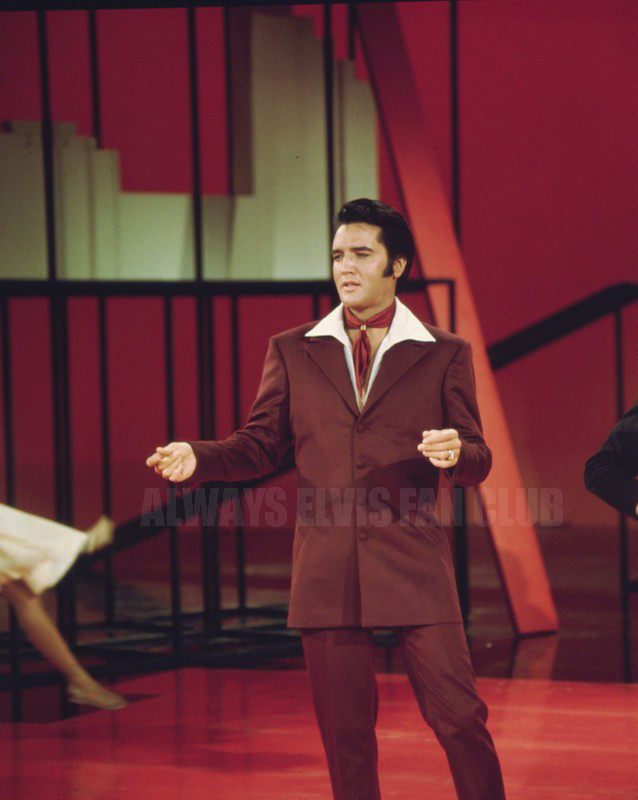 Elvis during his gospel sequence of his 1968 TV Special.
