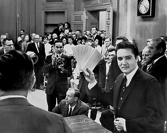 Elvis in Memphis during his annual support of local charities.