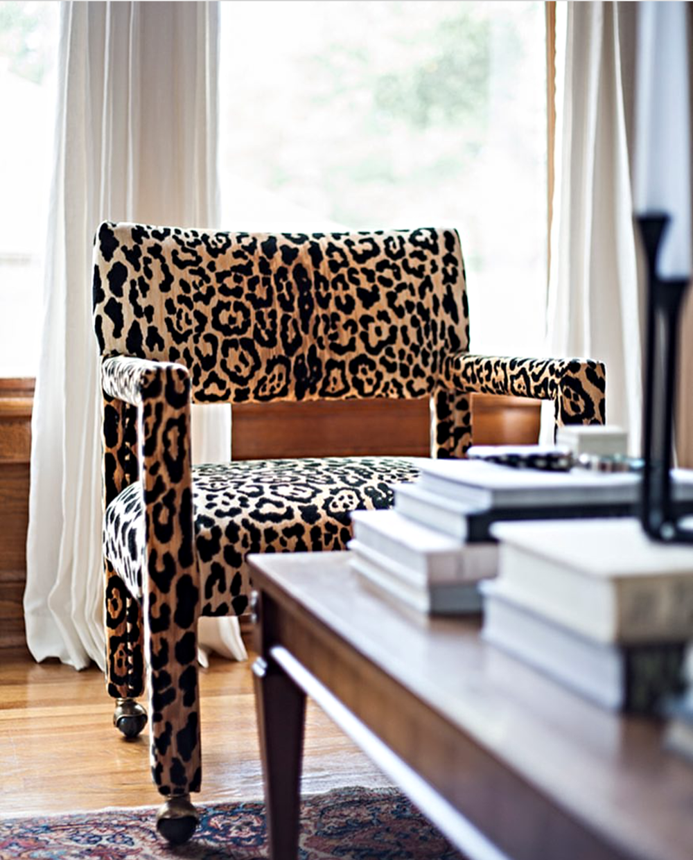 Leopard Parsons Chair Inspiration from one of My Favorite Instagrammers: The Makerista