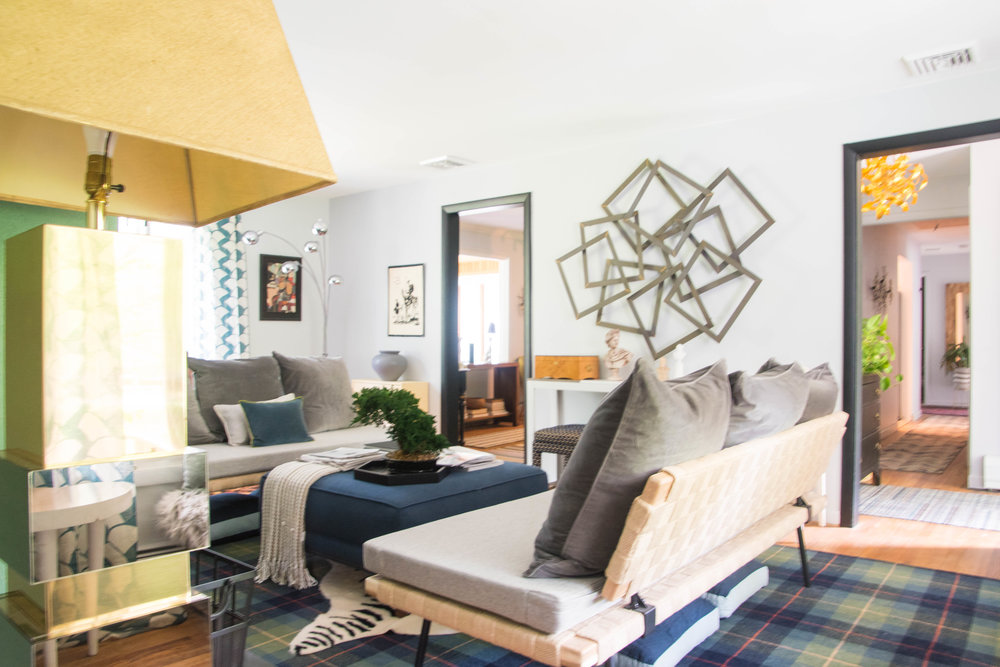 modern eclectic midcentury glam livingroom therathproject