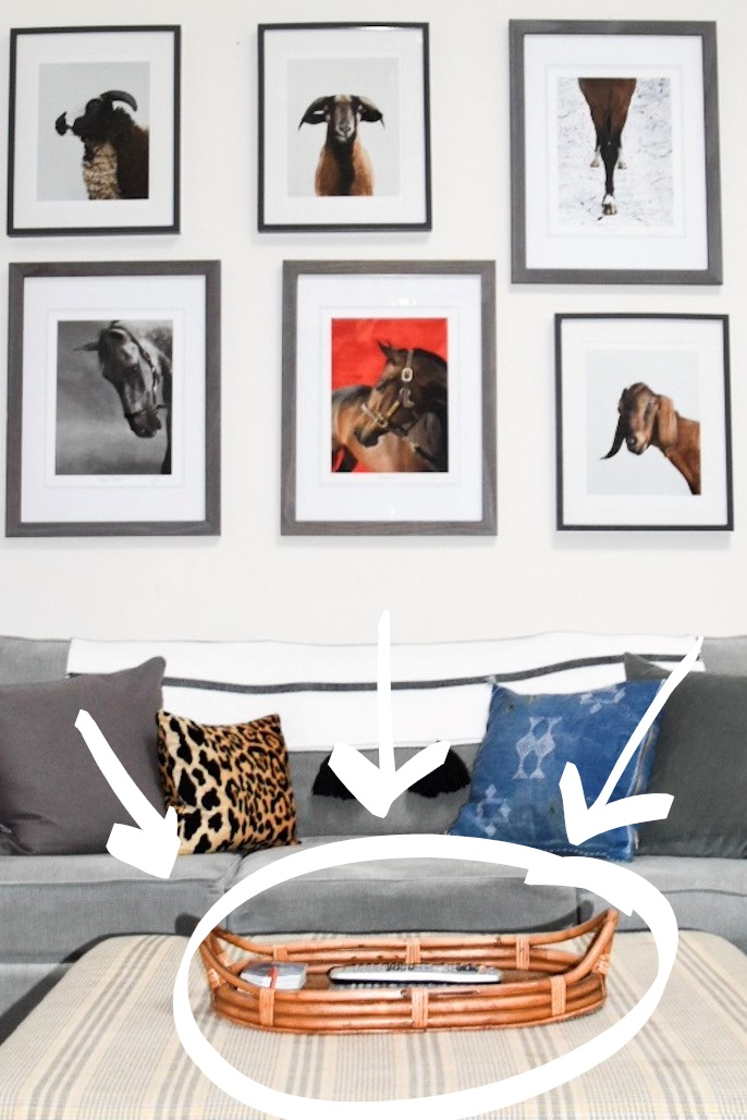 livingroom decor eclectic animal gallerywall collected chic diy interior styling