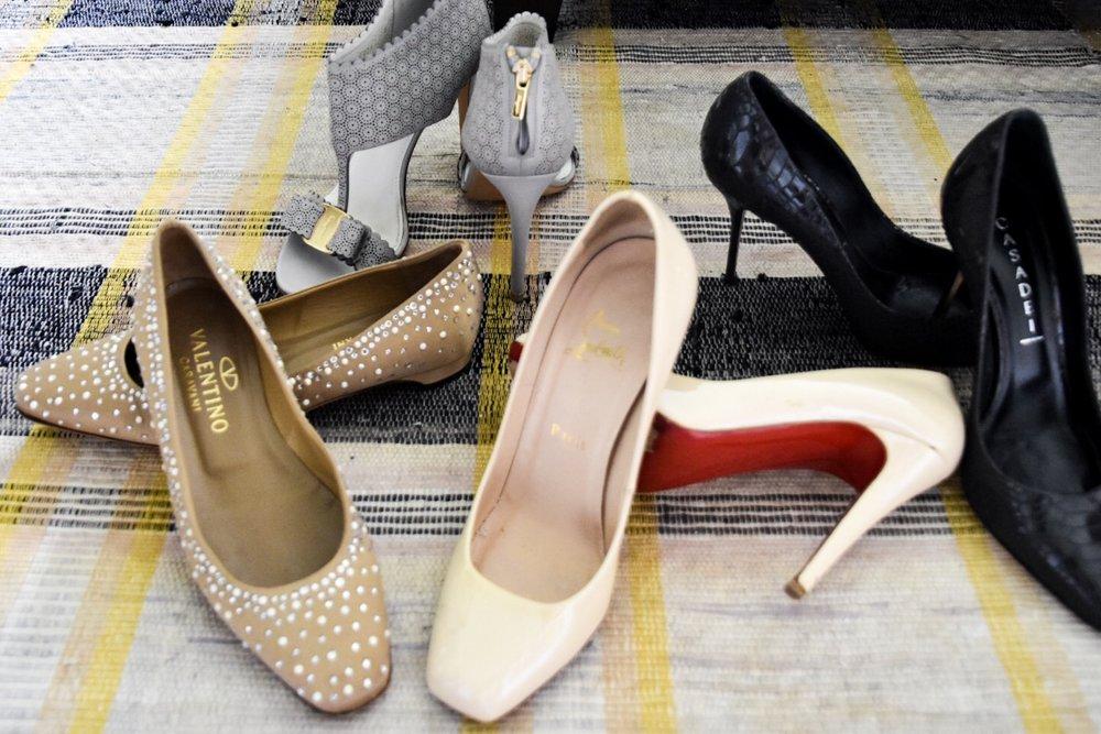 designer shoes louboutin casadei ferragamo valentino