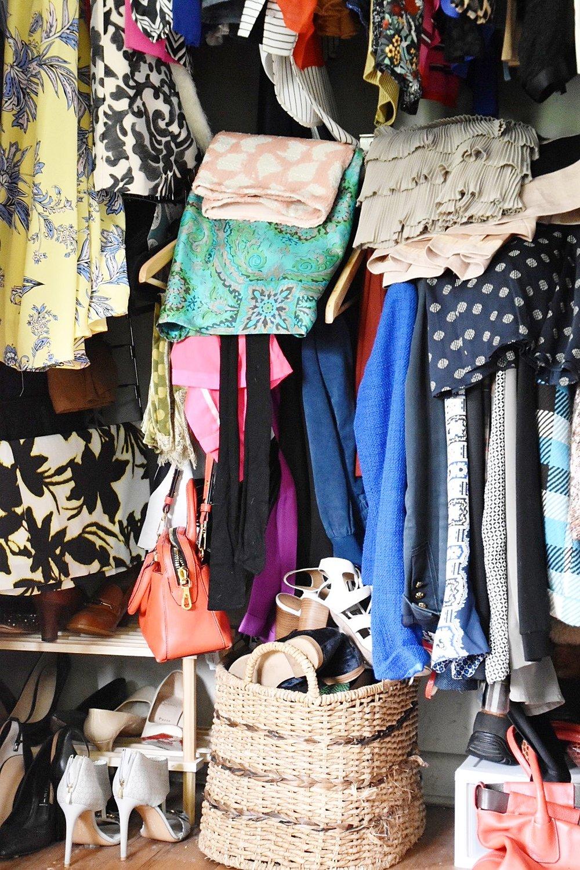 messy disorganized closet