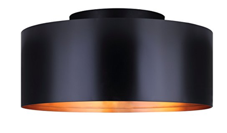 Canarm Oxyura 2 Light Flush Mount with Metal Shade