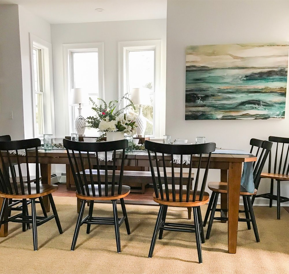 Bloggers Heart Habitat House dining Room designed with Raymour and Flanigan furniture (The Rath Project)