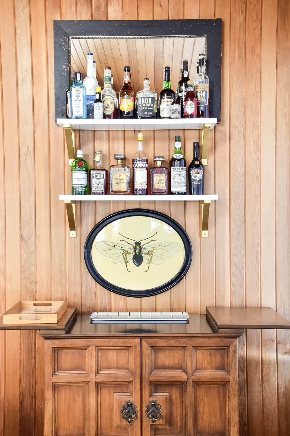 Eclectic Midcentury Bar Cart styling by the rath project