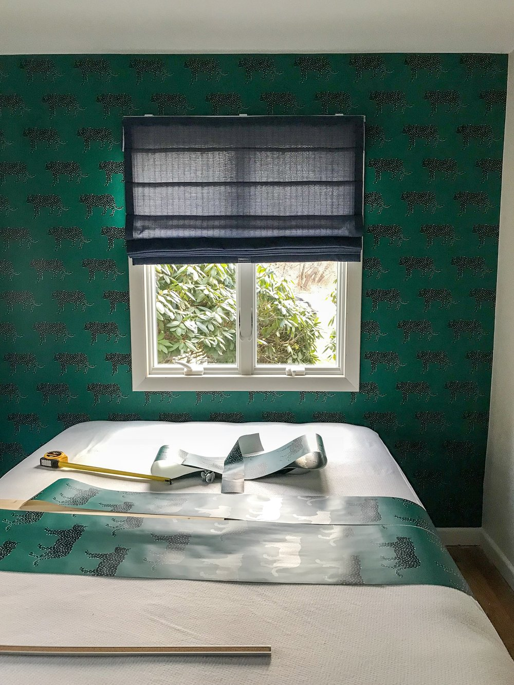 Guest Room Progress ORC 2018 removable wallpaper accent wall design by The Rath Project