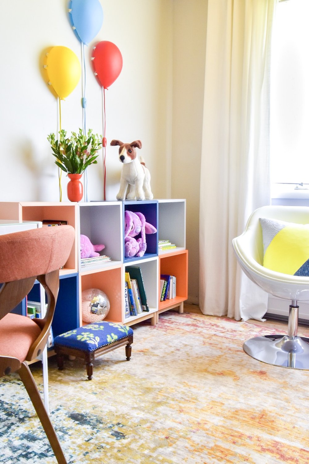 Eclectic modern Colorful kids room reading nook by Diane Rath The Rath Project