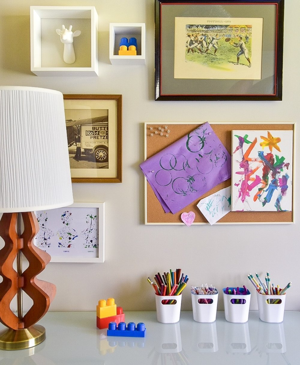 Eclectic modern Colorful kids room gallery wall by Diane Rath The Rath Project
