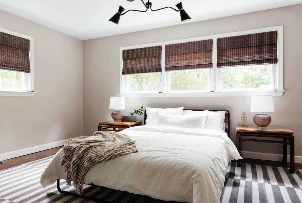 modern traditional master bedroom designed by The Rath Project