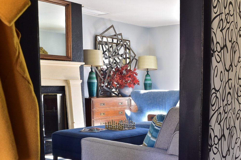 Modern Entry and Living Room Makeover by the Rath Project