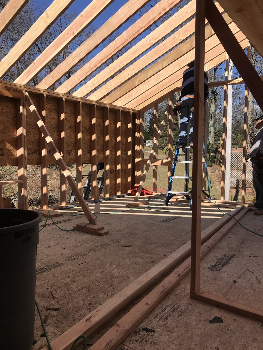 500 square foot master suite addition in construction by The Rath Project flips