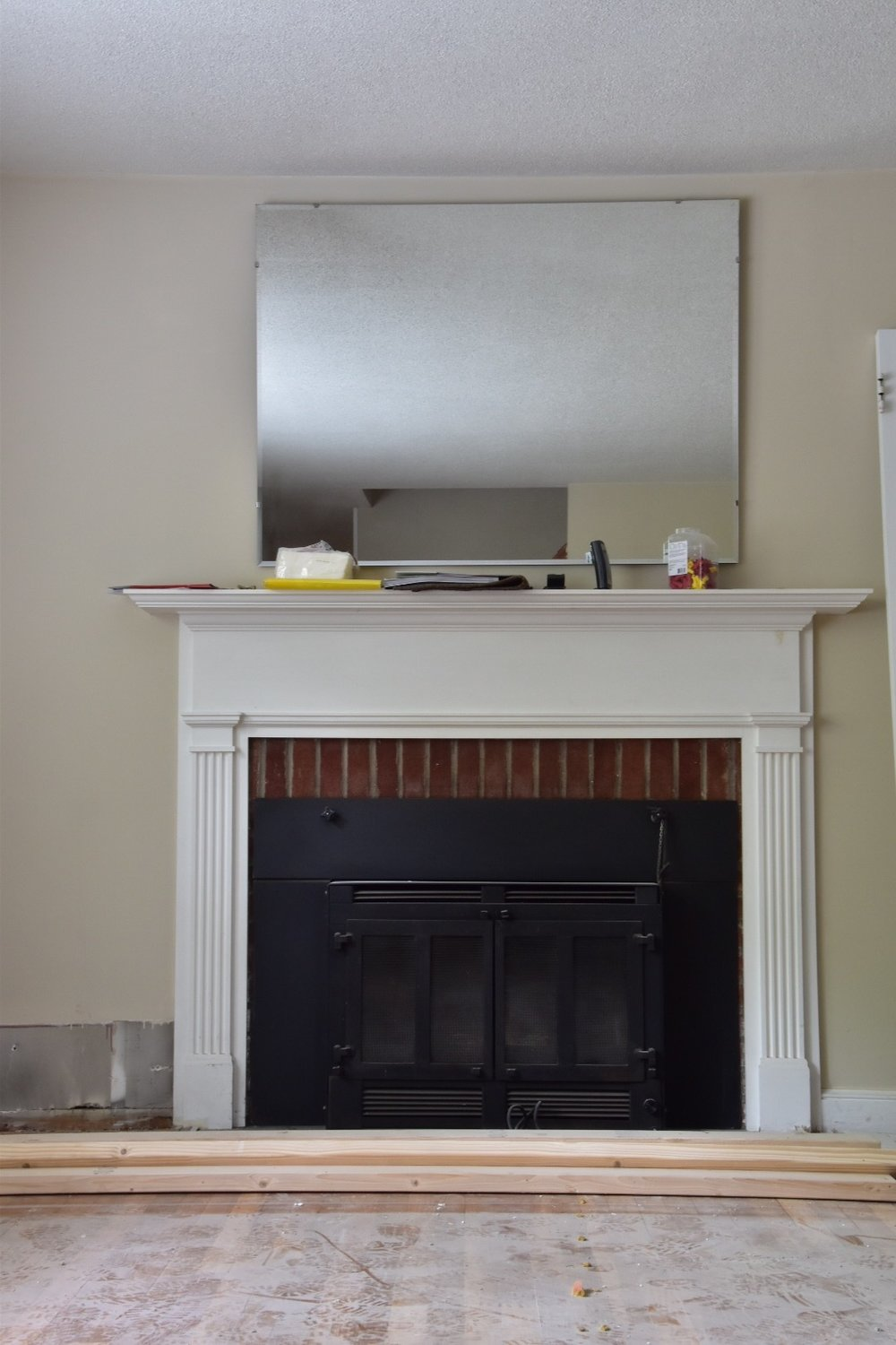 Fireplace Before by the Rath Project