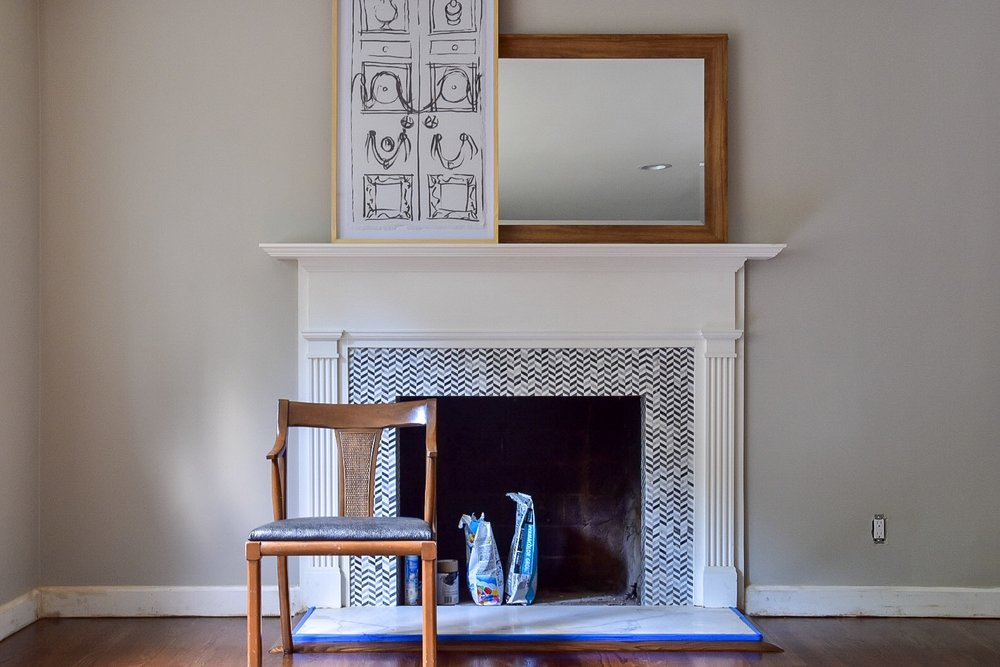 fireplace transformation by the Rath Project