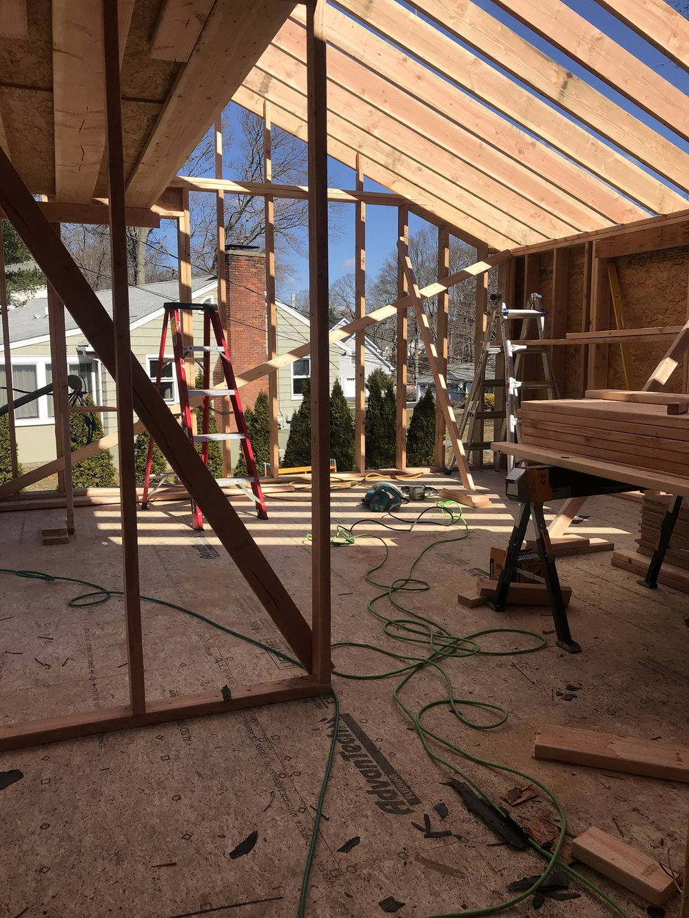 Construction of 500 sq foot addition for Fairfield U Flip by The Rath Project