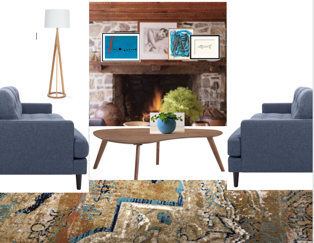 modern eclectic farmhouse design board by the rath project