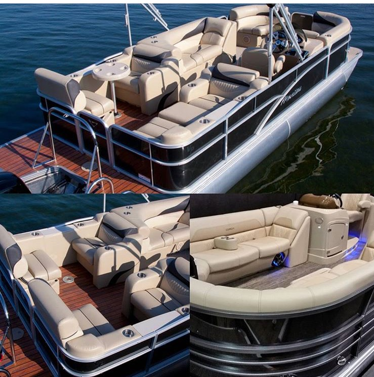 Pontoon (Available for partners only)  accommodates up to 10 people.