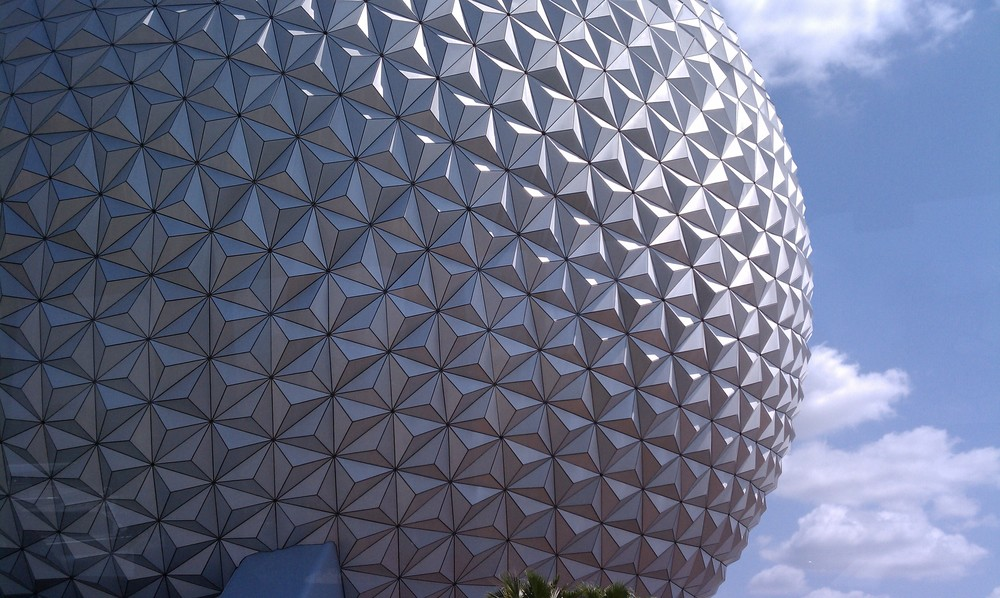 Epcot's Geodesic Sphere Close up
