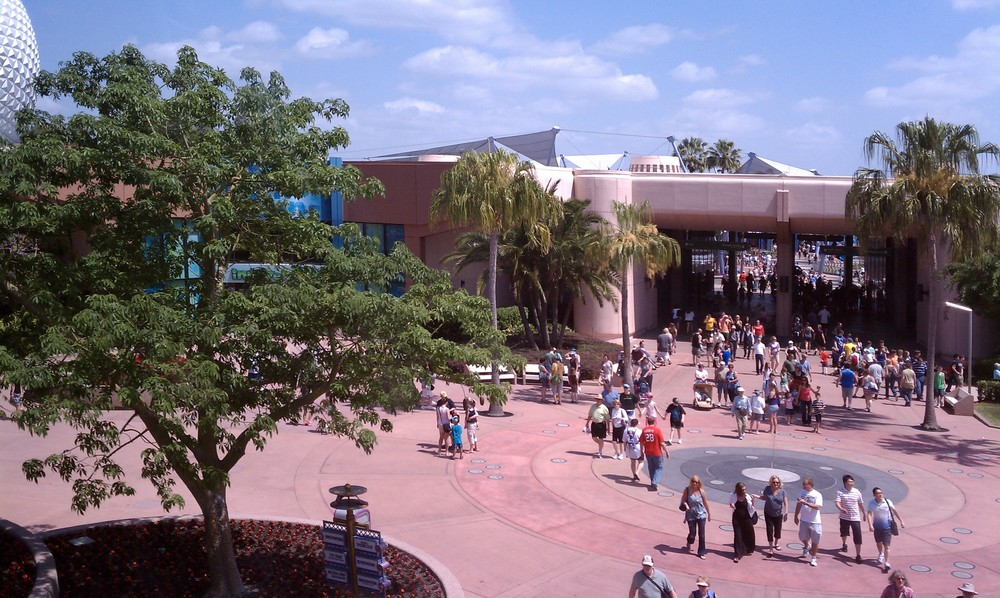Epcot From A Monorail