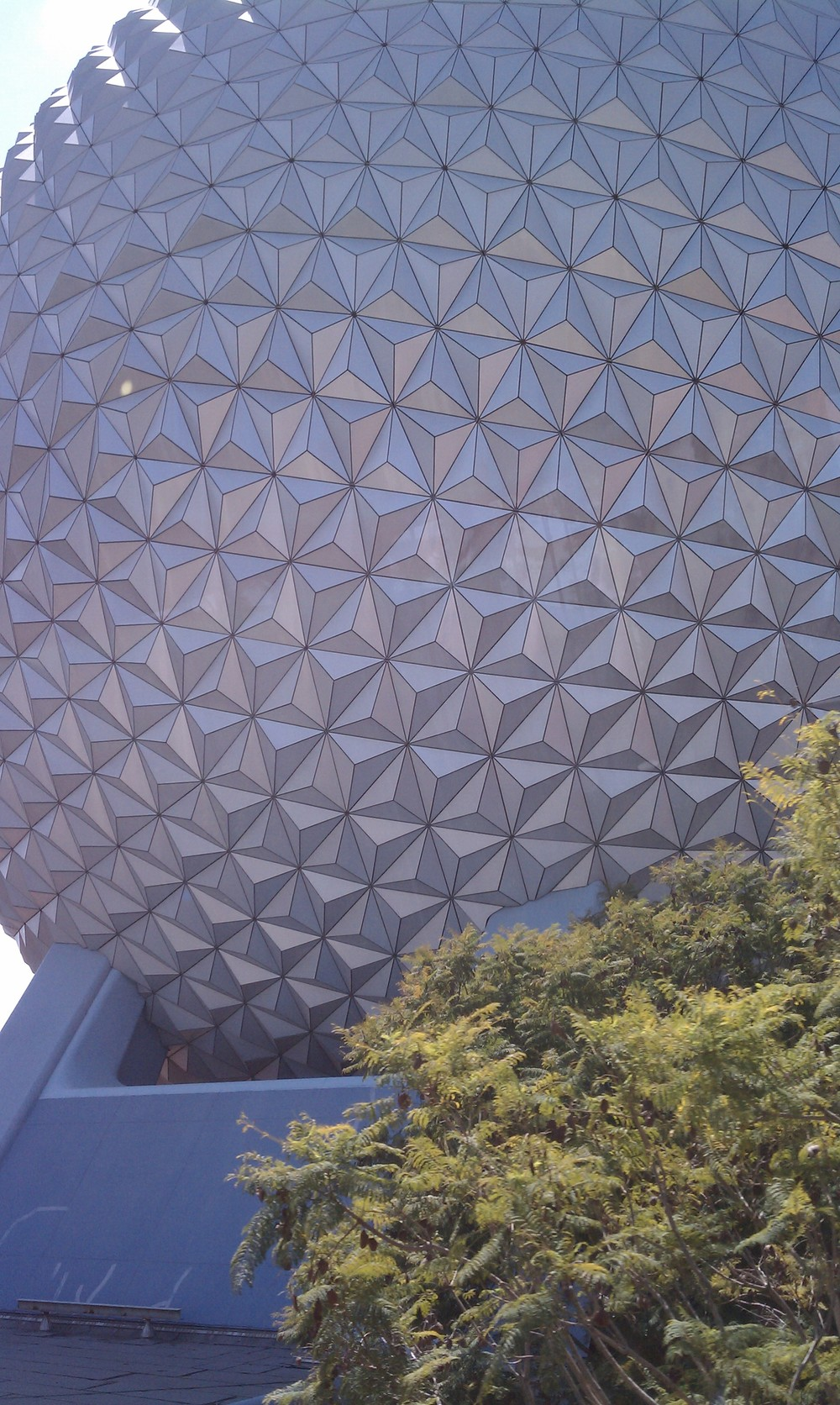 Epcot's Geodesic Sphere Close Up 2