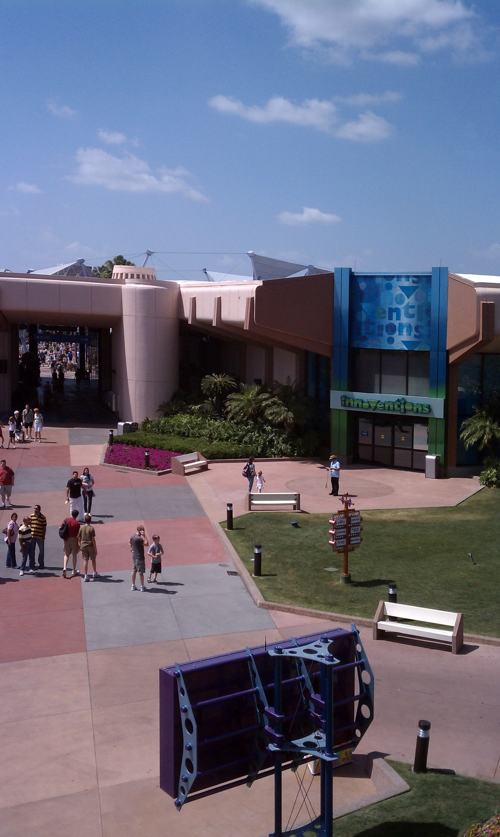 Epcot From A Monorail 6