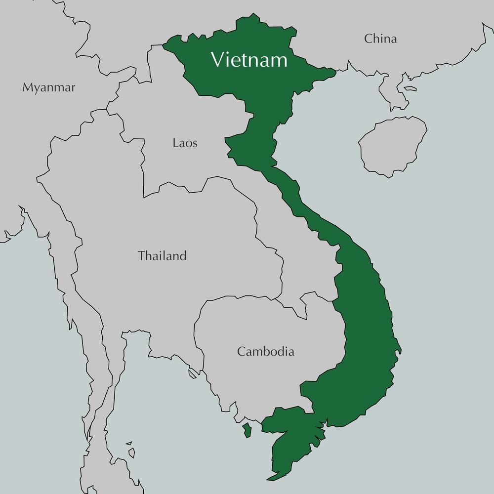 Mountains In Vietnam Map.Vietnam Grasshopper Self Guided