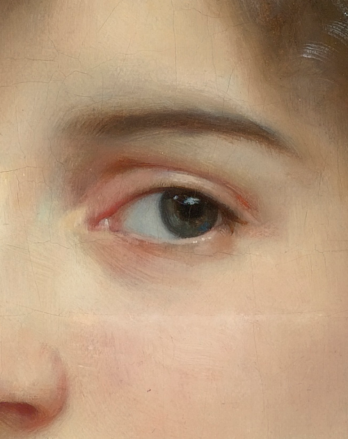 William Adolphe Bouguereau, Portrait of Gabrielle Cot detail