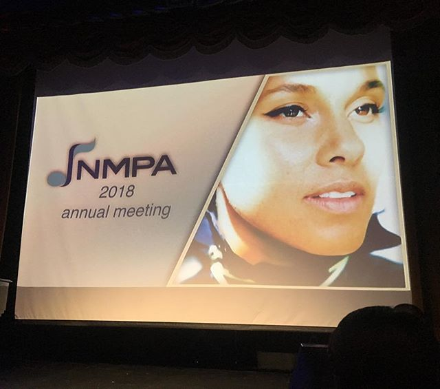 The inimitable @aliciakeys tonight @nmpaorg annual meeting. My heart, ohhhh my heart. What a beautiful soul.
