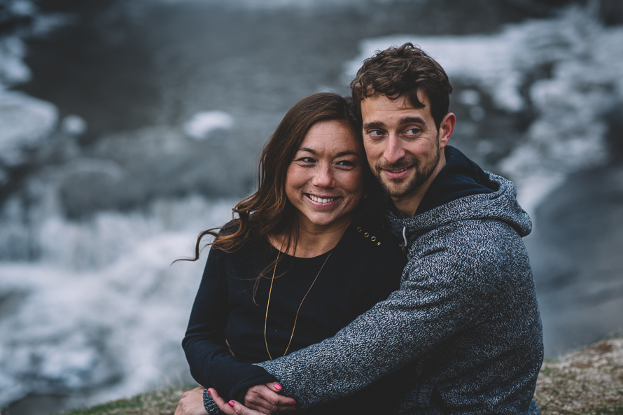 Oregon Waterfall Engagement Photos-12