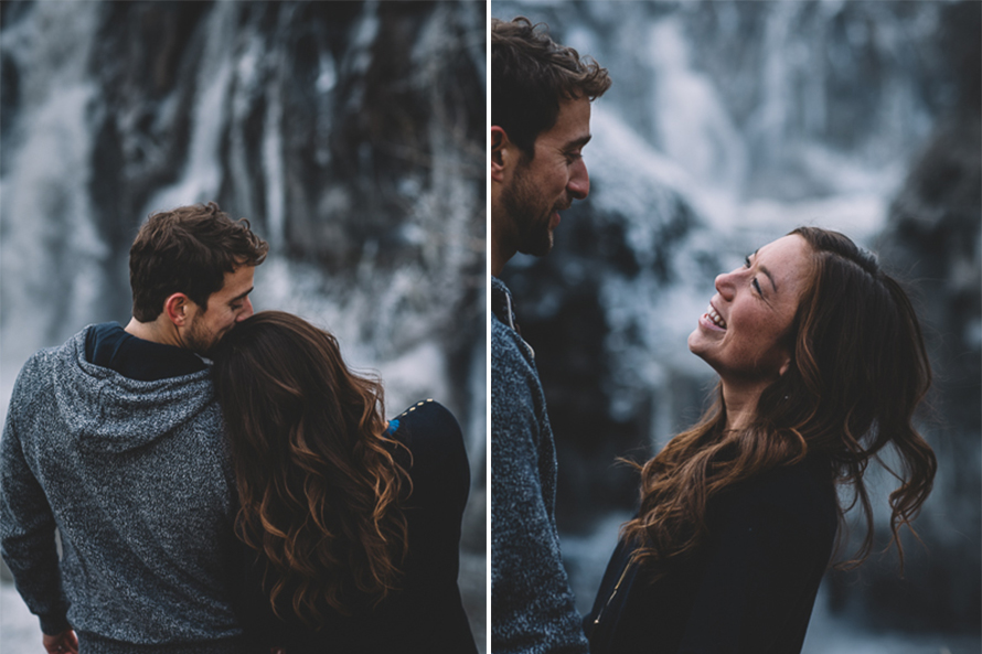 Oregon Waterfall Engagement Photos-4