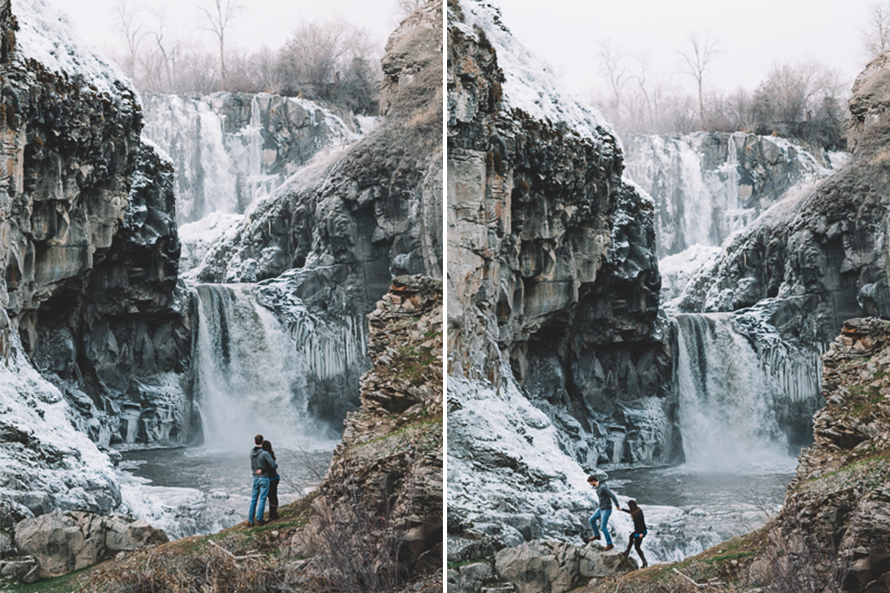 Oregon Waterfall Engagement Photos-44