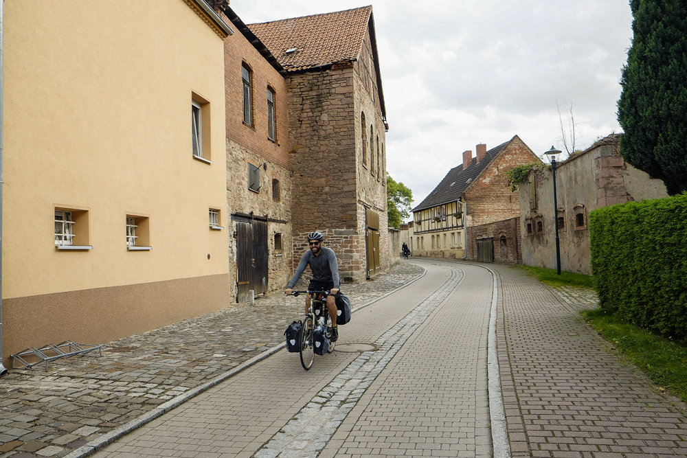 Much of the country is dotted with little towns like this one, Norgermersleden, which feel like ghost towns from Monday to Friday. The economic downturn of recent years forces most residents to commute to the nearest city for work.