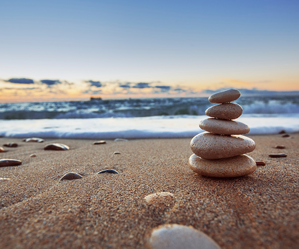 Meditation Rocks on the Beach