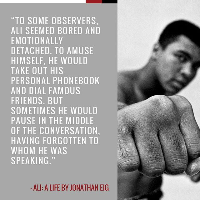"Order today to read ""Ali: A Life,"" by best-selling author Jonathan Eig. #LinkInBio"