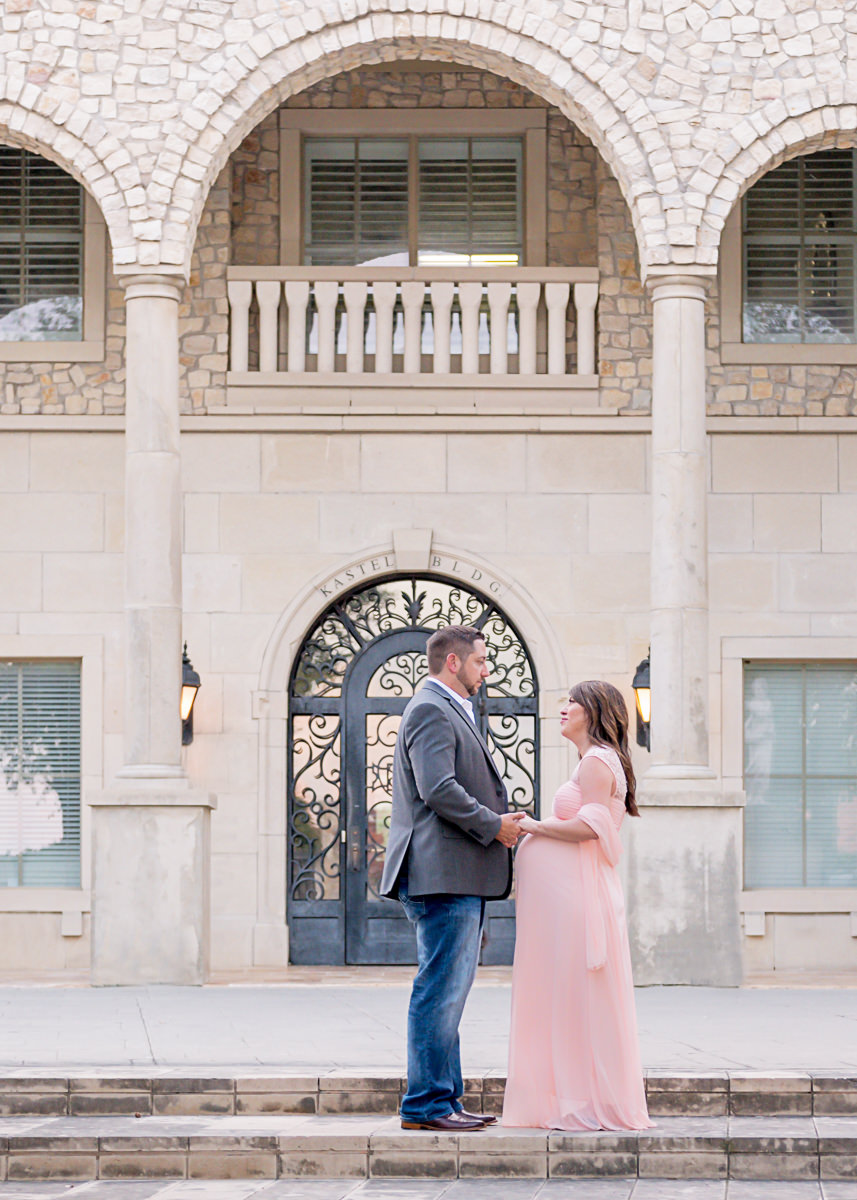Maternity Baby Bump Couple Seattle Bellevue Pink Gown.jpg