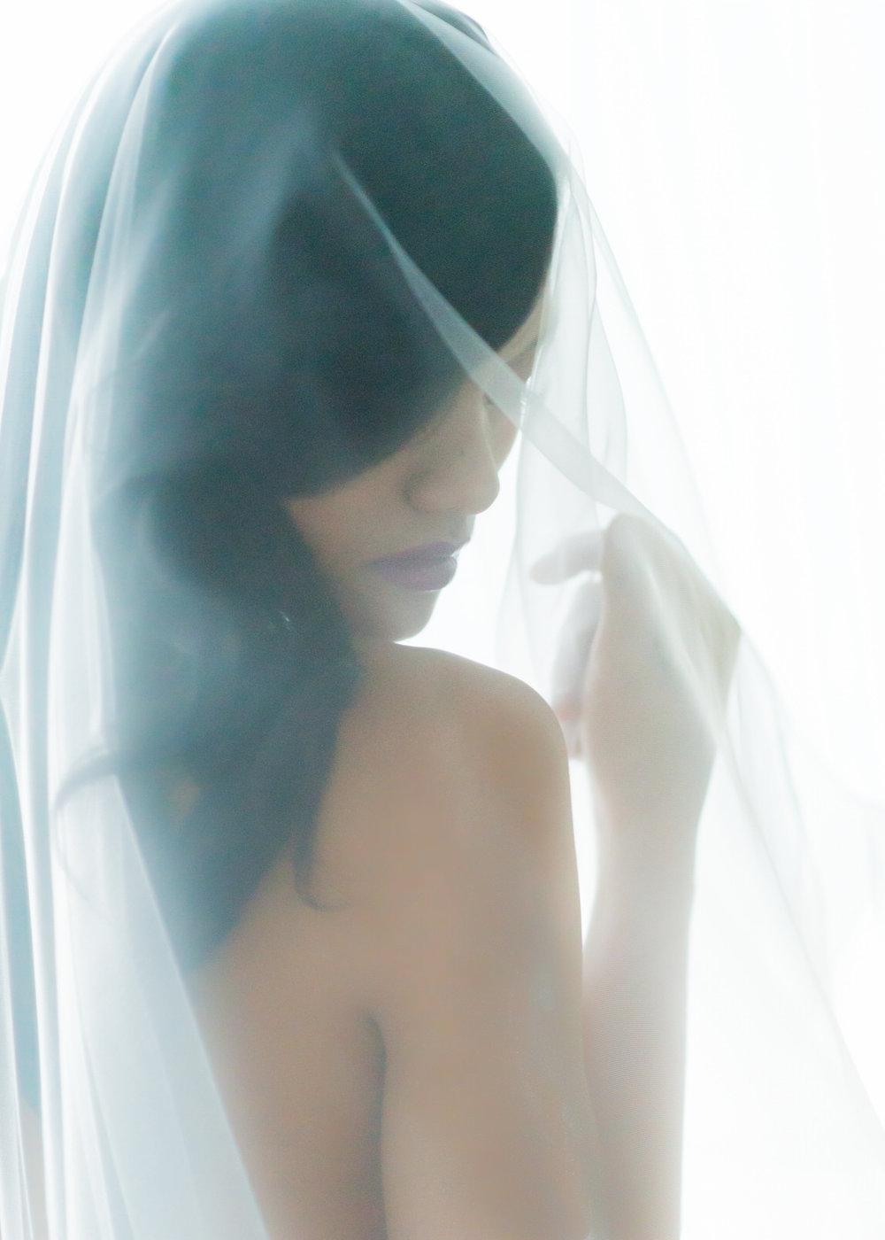 Bridal Boudoir Seattle Bride Veil Elegant Art Sophisticated.jpg